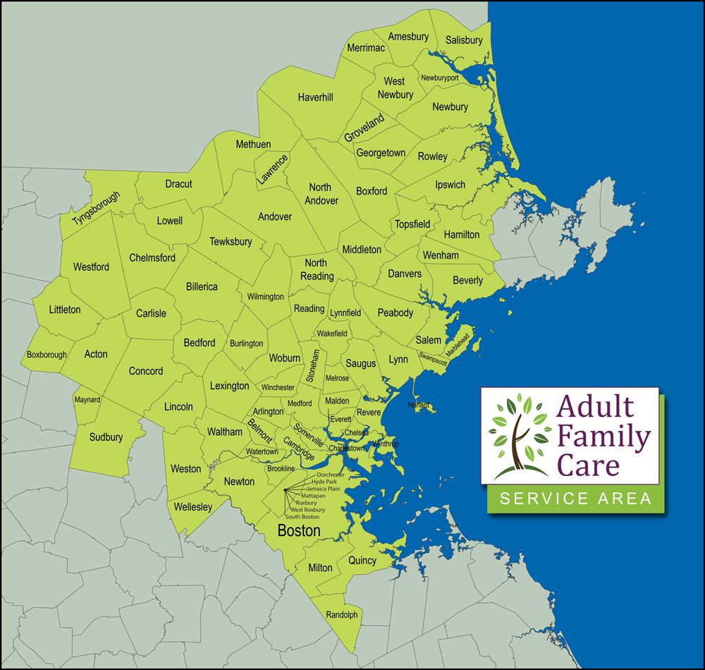 AFC Service Area Map
